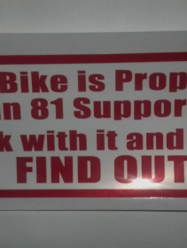 81 Bike Sticker